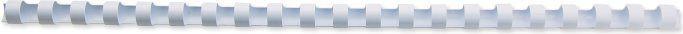 GBC Grzbiety plastikowe 8mm białe (4028194) 1