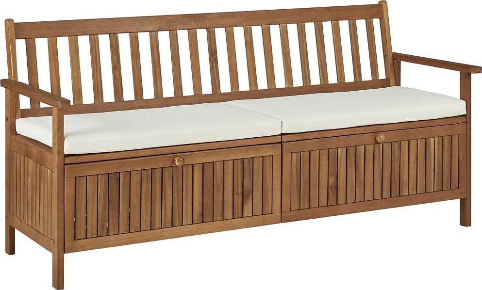 Elior Drewniana ławka ogrodowa Canat 2X - brązowa 1