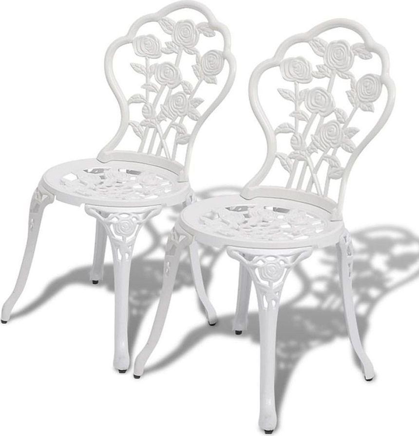Elior Zestaw metalowych krzeseł ogrodowych Mesa - biały 1