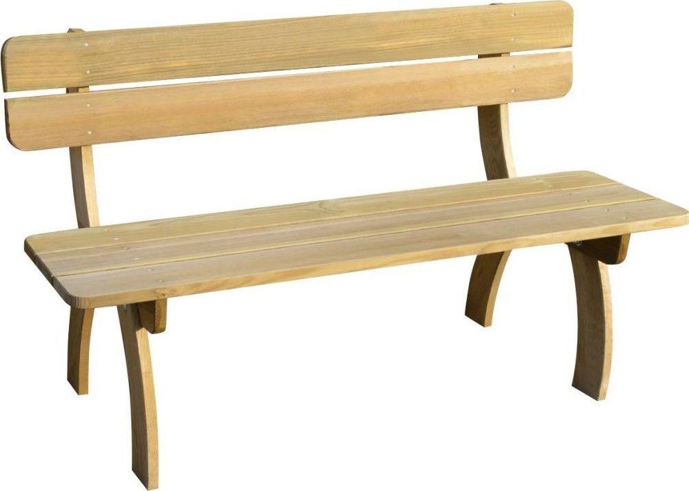 Elior Drewniana ławka ogrodowa Abder - brązowa 1