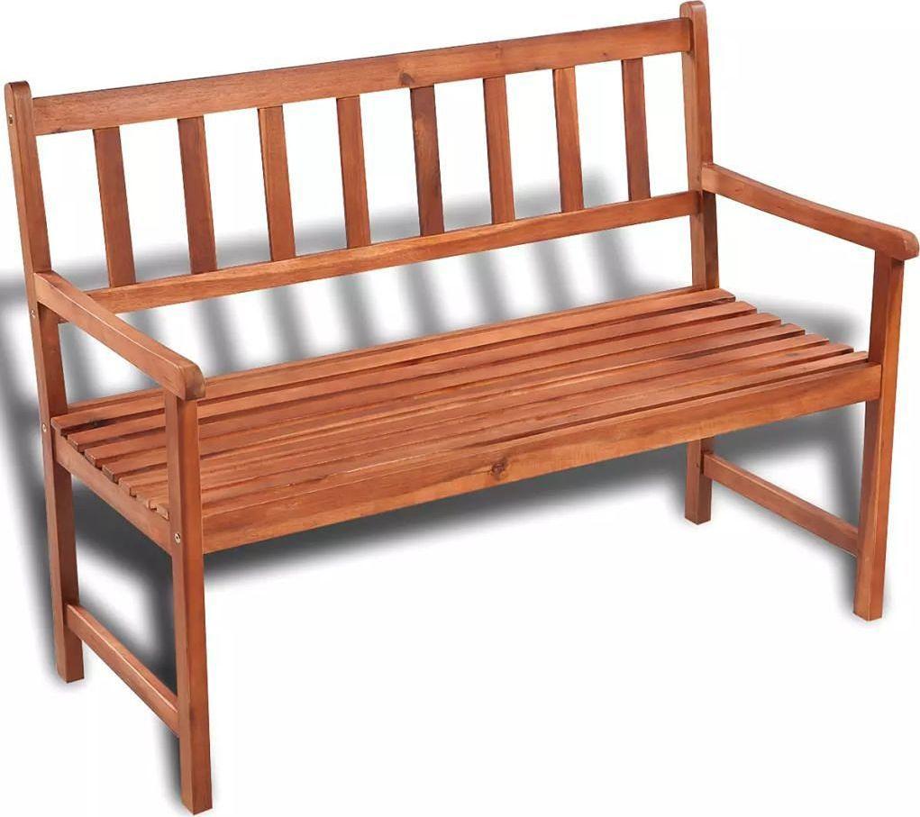 Elior Drewniana ławka ogrodowa Dean - brązowa 1