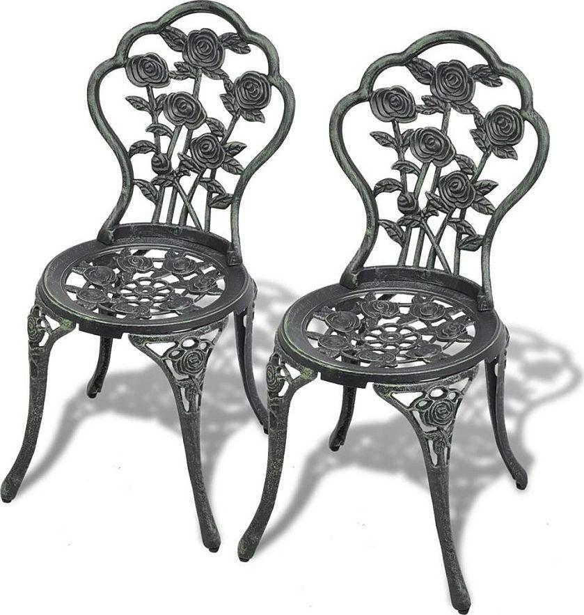 Elior Zestaw metalowych krzeseł ogrodowych Mesa - zielony 1