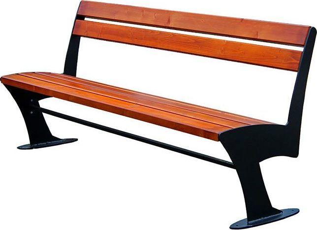 Elior Stalowa ławka parkowa Zoio 2X 150 cm - 84 kolory Dąb Rustykalny 1