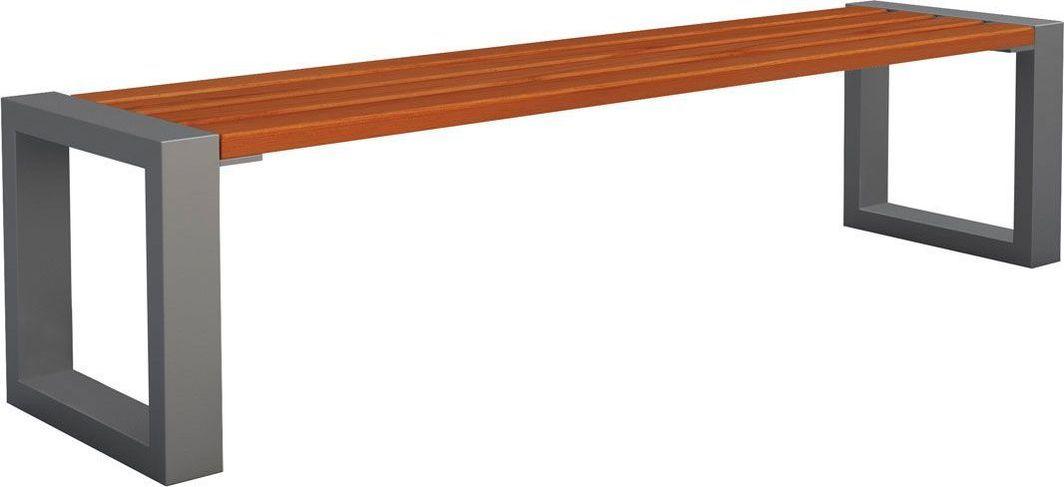 Elior Ławka miejska Norin 3X Gray 180cm - 8 kolorów Orzech 1