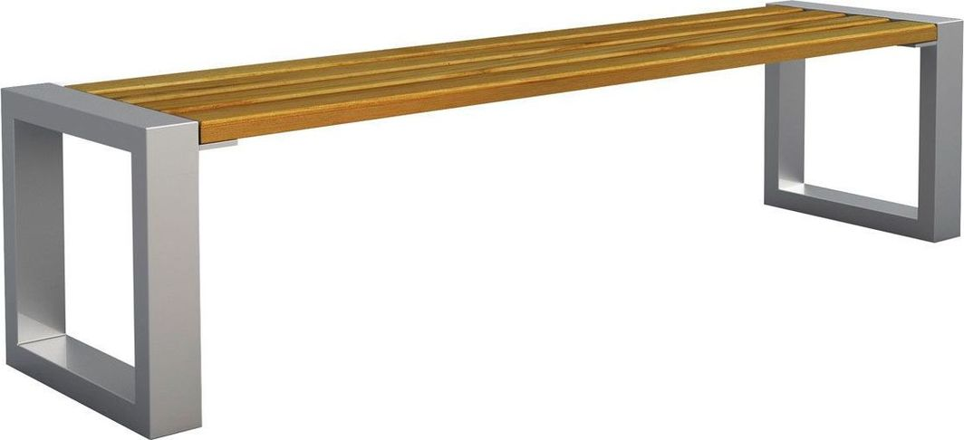 Elior Ławka miejska Norin 3X Silver 150cm - 8 kolorów Dąb 1