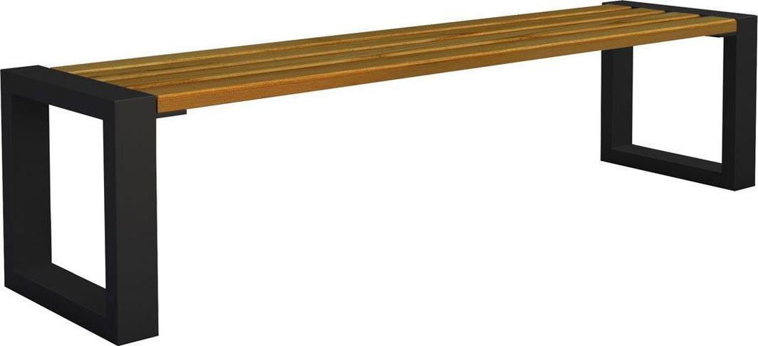 Elior Ławka miejska Norin 3X Black 150cm - 8 kolorów Dąb 1