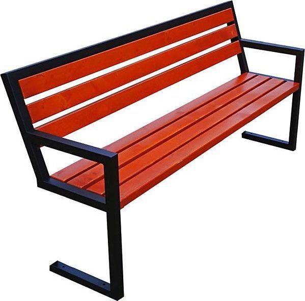 Elior Nowoczesna ławka parkowa Francis 150 cm - 84 kolory Mahoń 1