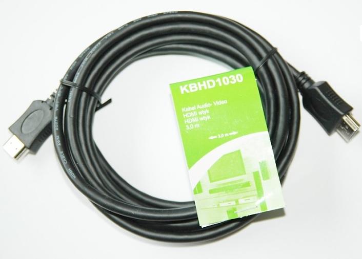 Kabel TreQ HDMI - HDMI 3m czarny (KBHD1030) 1