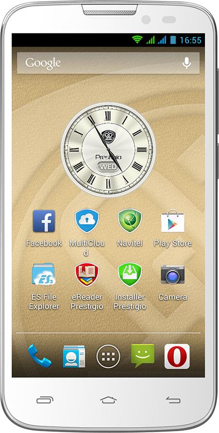 Smartfon Prestigio 4 GB Dual SIM Biały  (PSP5517DUO_WH_B) 1
