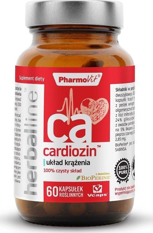 Pharmovit Cardiozin Herballine 60 Kaps. Pharmovit Układ Krążenia Pieprz Czarny Bioperine Ekstrakt Z Głogu Winogrona Miłorząb Japoński 1