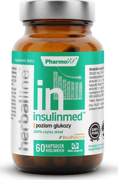 Pharmovit Insulinmed Herballine 60 Kaps. Pharmovit Poziom Glukozy Czarny Pieprz Bioperine Morwa Biała Chrom Cynamonowiec Gurmar 1