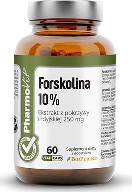 Pharmovit Forskolina 10% Ekstr. Pokrzywy Indyjskiej 250Mg 60 Kaps. Pharmovit Pokrzywa Indyjska Coleus Forskohlii Bio Perine 1