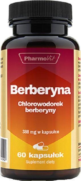 Pharmovit Berberyna 60 kapsułek Ekstrakt Z Korzenia Berberysa Berberis Aristata Poziom Glukozy We Krwi Zdrowie Wątroby 1
