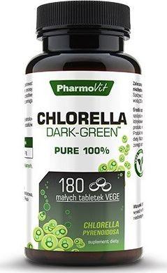 Pharmovit Chlorella Dark-Green 180 Tabletek Chlorella Chlorella Pyrenoidosa Układ Odpornościowy Witalność Organizmu Mikroflora Jelit 1