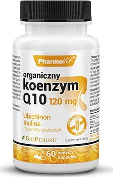 Pharmovit Koenzym Q10 Organiczny 120Mg 60 Kaps. Pharmovit Ubichinon Lnulina Korzenia Cykorii Prebiotyk Bio Perine 1