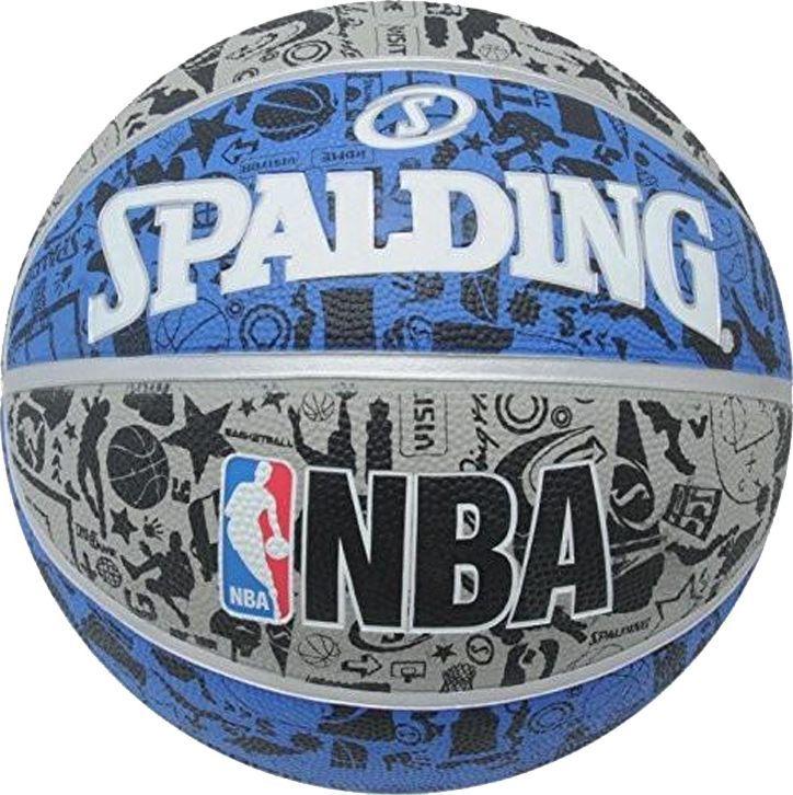 Spalding Spalding NBA Grafitti Rubber Ball 83176Z niebieskie 7 1