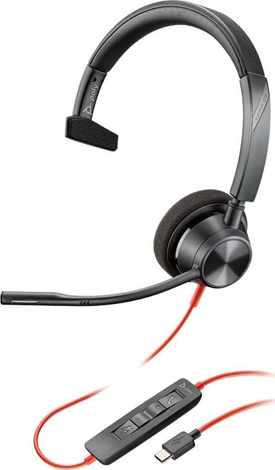 Słuchawki z mikrofonem Poly Blackwire C3310 USB-C Mono (213929-01) 1