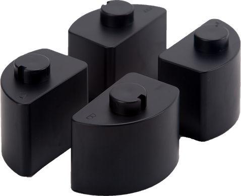 ErgoSafe Nóżki do podstawki pod monitor czarne (1) 1