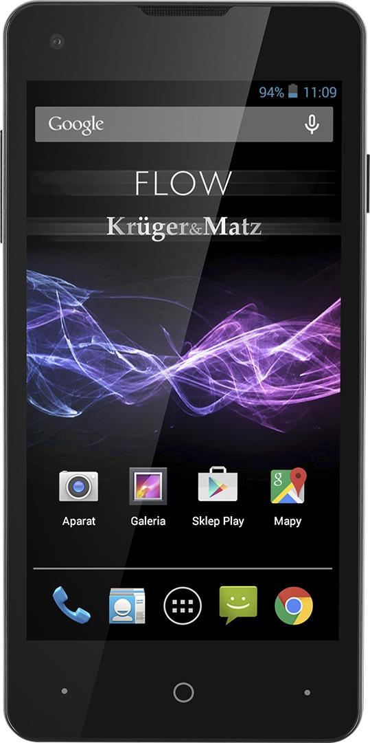Smartfon Kruger&Matz 8 GB Dual SIM Czarny  (KM0416) 1