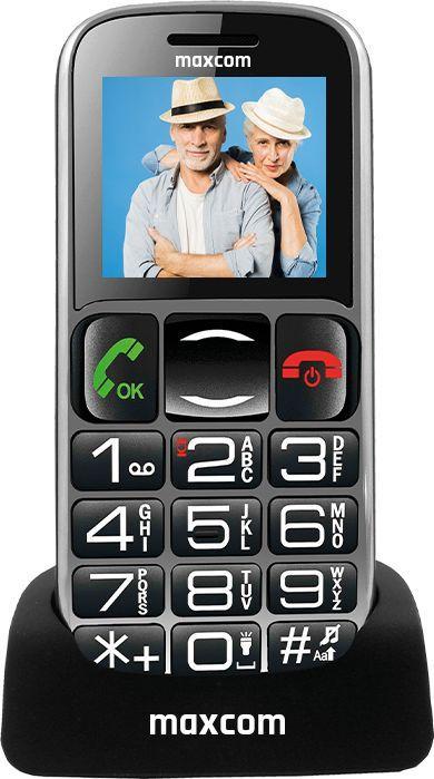 Telefon komórkowy Maxcom MM462BB Czarno-srebrny 1