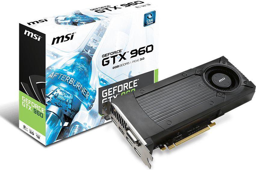 Karta graficzna MSI GeForce GTX 960 2GB GDDR5 (128 bit) DVI, HDMI, 3x DP (GTX 960 2GD5) 1