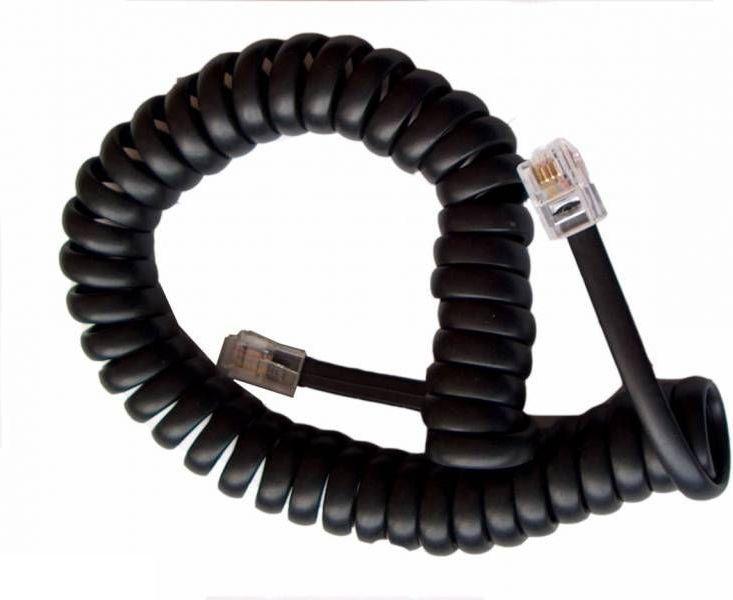 Kabel telefoniczny skręcany 2m Czarny (TEL0032A) 1