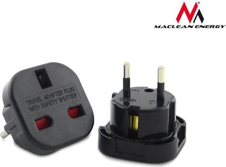 Maclean Adapter podrózny EU na UK czarny (MCE72) 1