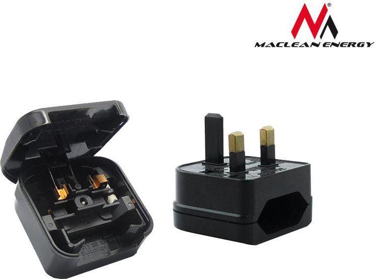 Maclean Adapter podróżny UK na gniazdo EU czarny (MCE71) 1