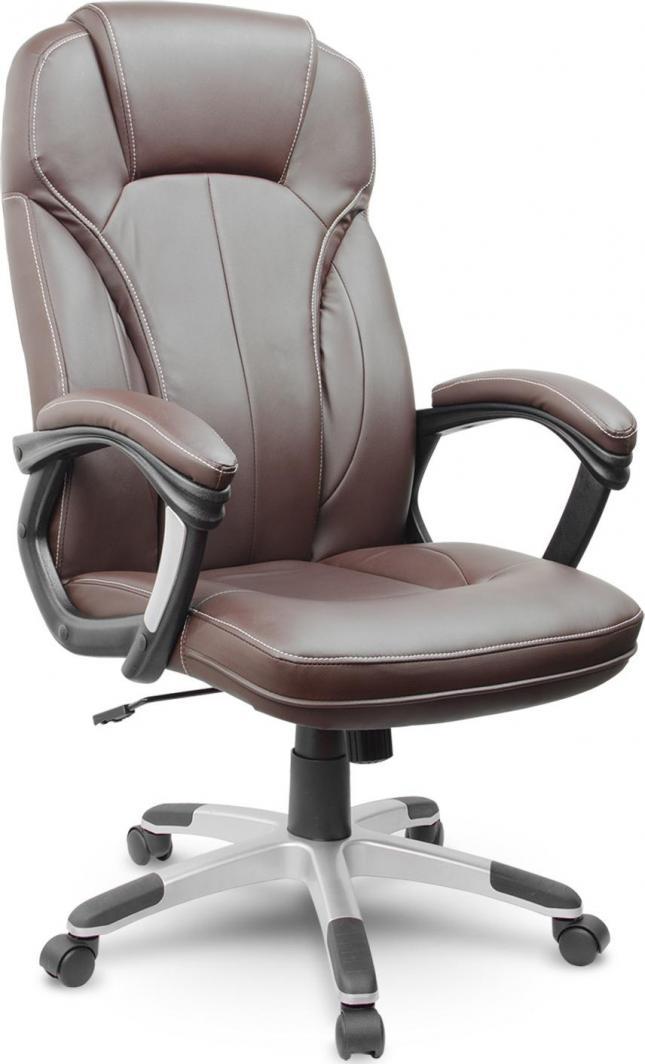 Sofotel Fotel biurowy skórzany Eago EG-222 brązowy 1