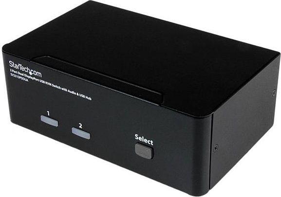 Przełącznik StarTech 2 x DisplayPort / USB / 3.5 Mini-Jack (SV231DPDDUA) 1