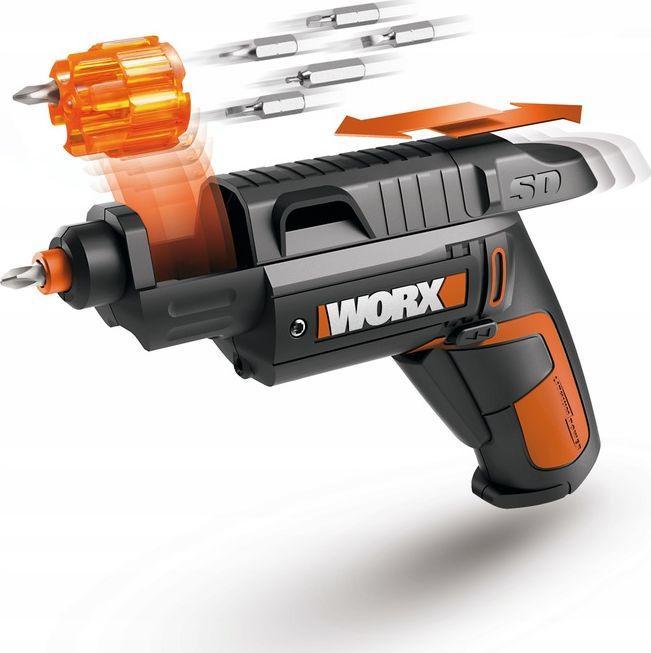 Worx wkrętak akumulatorowy 4v 3nm + akcesoria + kabura + 12 bitów (WX254.7)  1