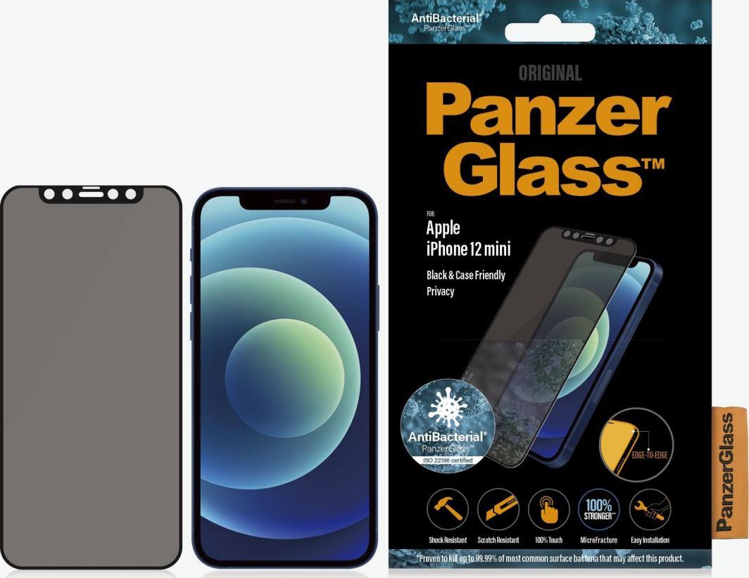 PanzerGlass Szkło hartowane do iPhone 12 Mini Privacy Black (P2710) 1