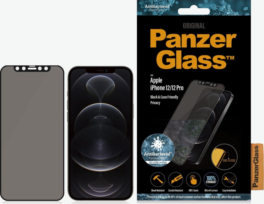 PanzerGlass Szkło hartowane do iPhone 12/12 Pro Privacy Black (P2711) 1
