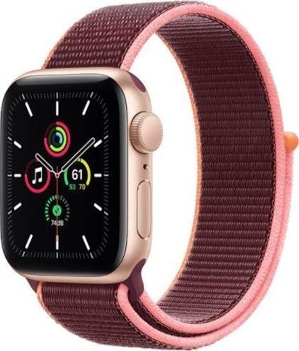 Smartwatch Apple Watch SE GPS 40mm Gold Alu Plum + + Cellular Fioletowy  (MYEJ2WB/A) 1