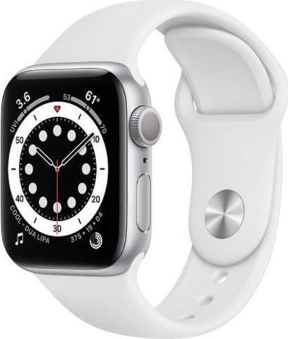 Smartwatch Apple Watch Series 6 GPS + Cellular 44mm Silver Alu White Sport Biały  (MG2C3WB/A) 1