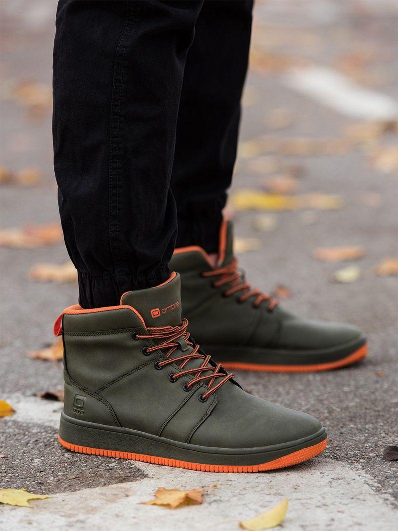 Ombre Buty męskie sneakersy T311 - zielone 40 1