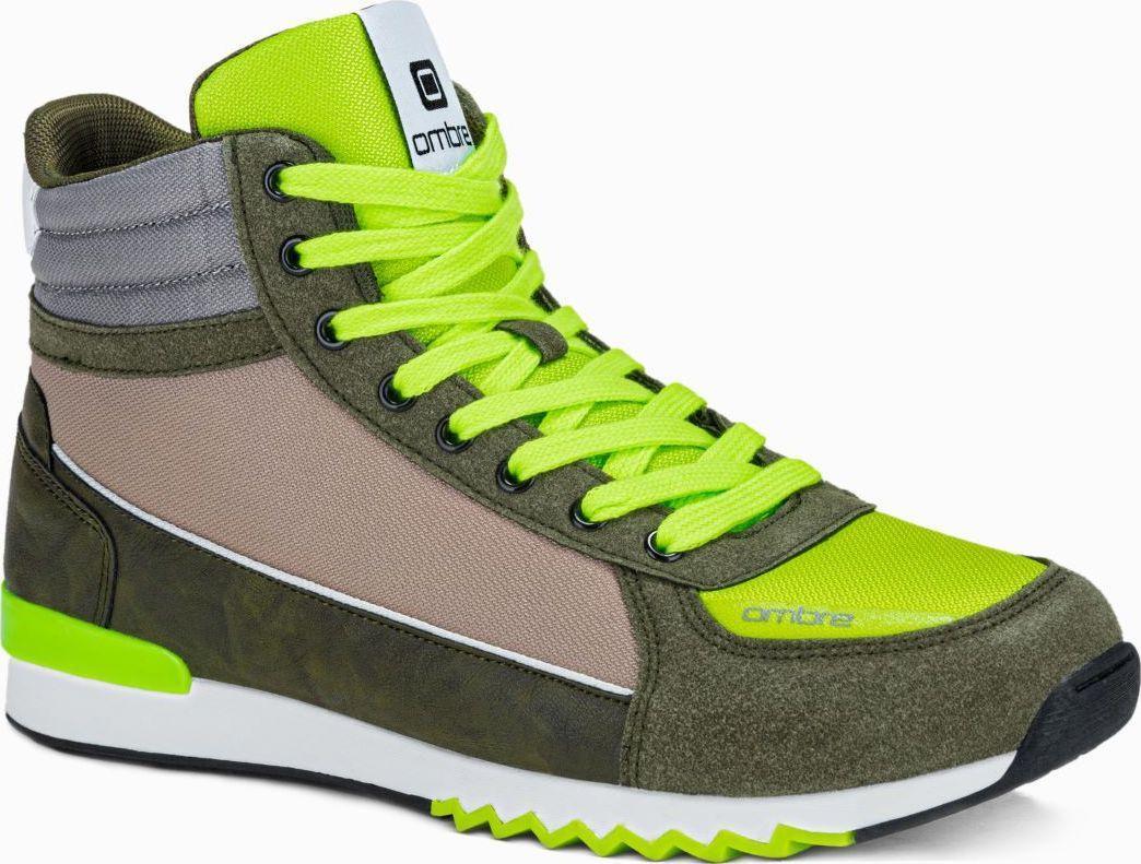 Ombre Buty męskie sneakersy T358 - khaki 43 (16057-W) - 16057-W 1