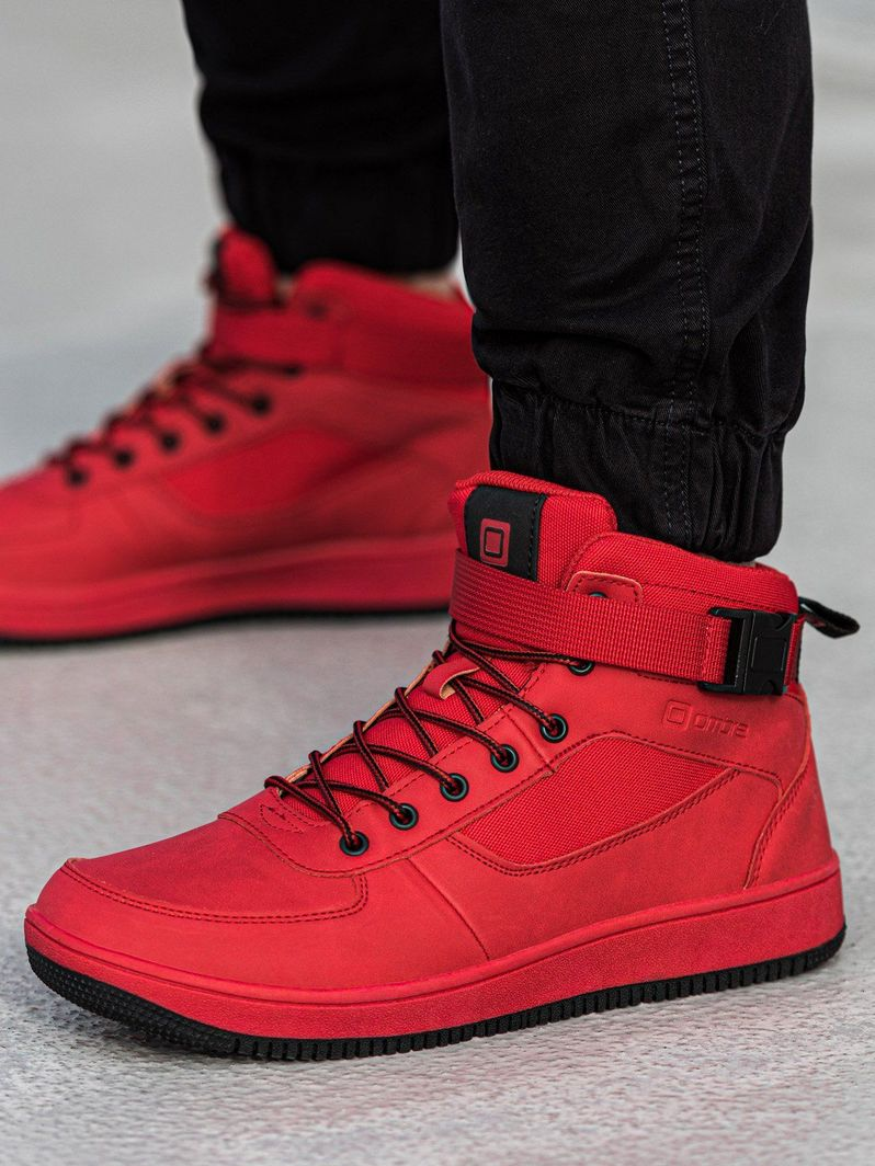 Ombre Buty męskie sneakersy T317 - czerwone 40 1