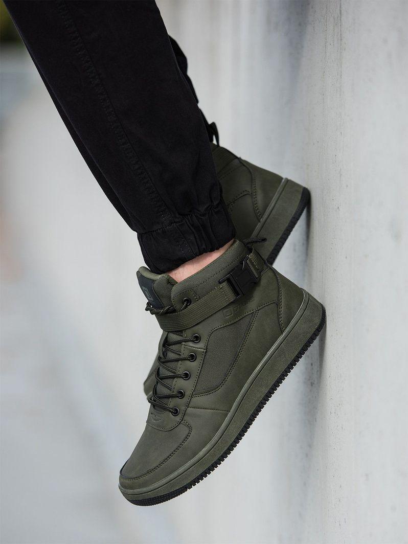 Ombre Buty męskie sneakersy T317 - zielone 44 1
