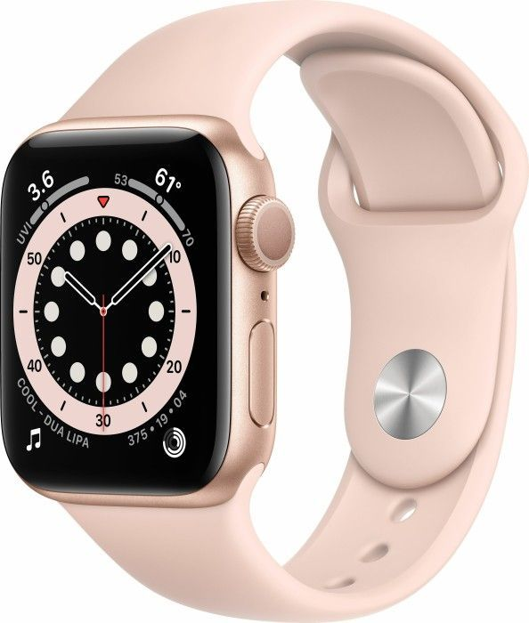 Smartwatch Apple Watch Series 6 GPS 40mm Gold Alu Rose Sport Różowy  (MG123WB/A) 1