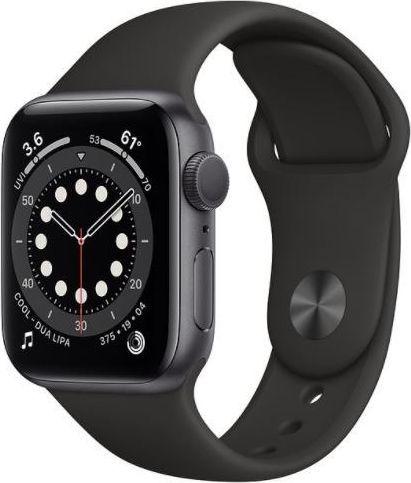 Smartwatch Apple Watch Series 6 GPS 44mm Gray Alu Black Sport Czarny  (M00H3WB/A) 1