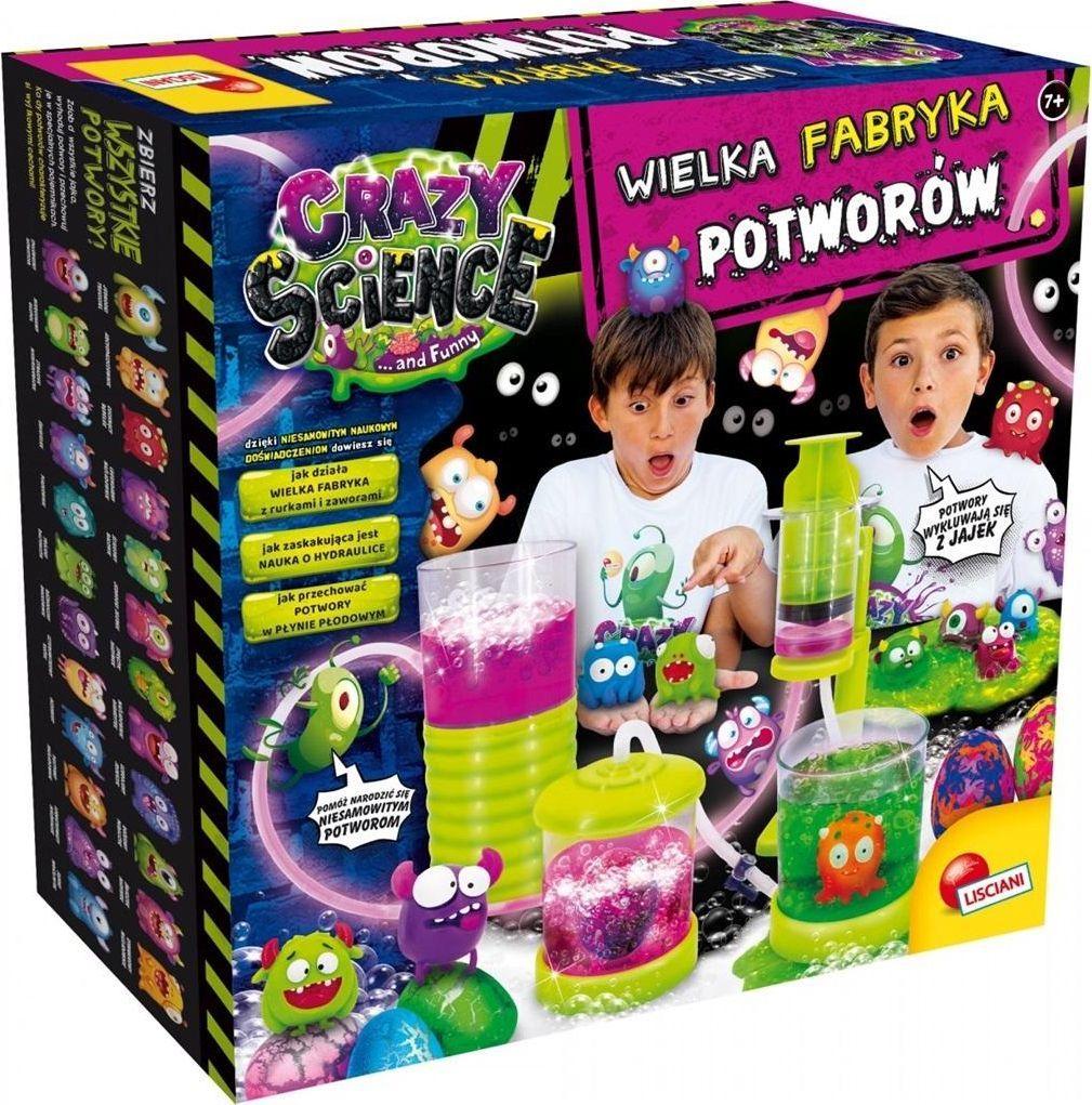 Lisciani Zestaw edukacyjny Crazy Science Wielka fabryka potworów (304-PL77281) 1