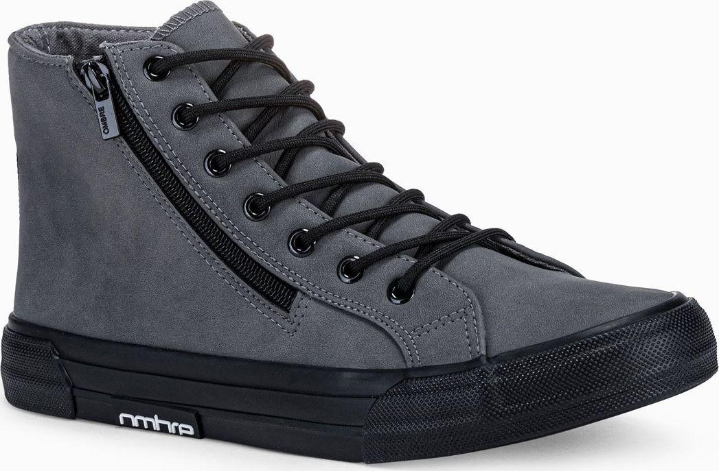 Ombre Trampki męskie sneakersy T352 - grafitowe 43 1