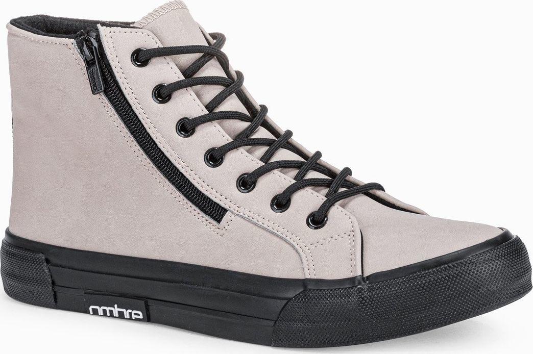 Ombre Trampki męskie sneakersy T352 - beżowe 45 1