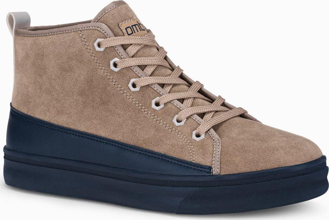Ombre Buty męskie sneakersy T362 - beżowe 40 1