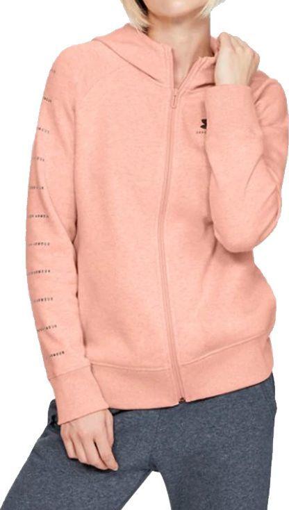 Under Armour Under Armour Rival Fleece Sportstyle LC Sleeve Graphic Full Zip 1348559-689 różowe S 1