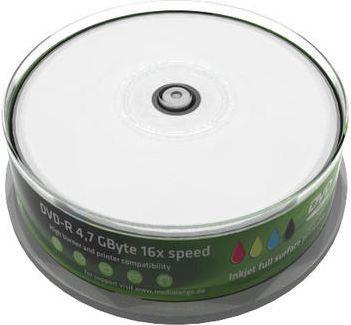 MediaRange DVD-R, 16x, 4,7GB, do drukarek atramentowych, 25 sztuk (MR407) 1