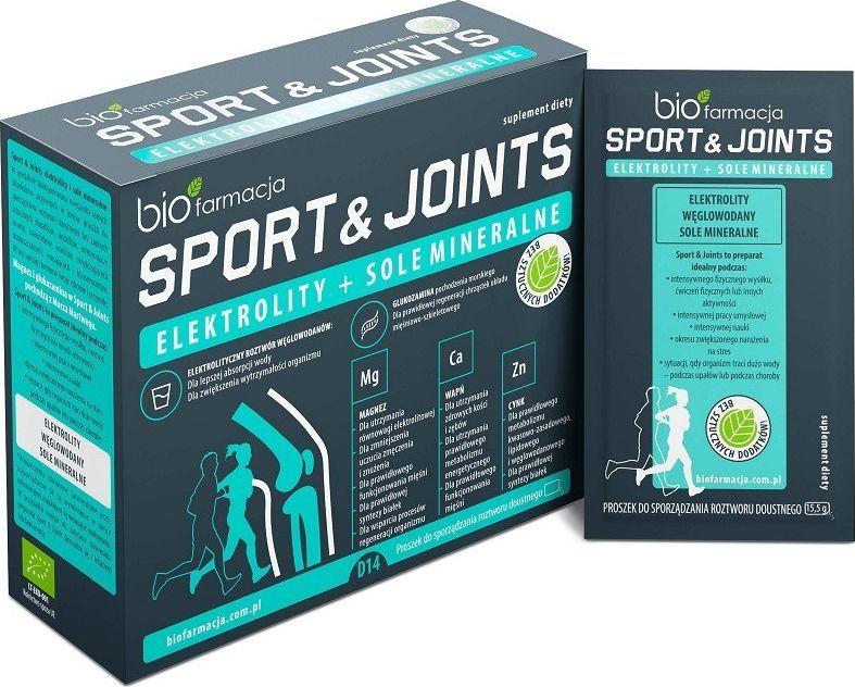 Biofarmacja Sport Joints Elektrolity Sole Mineralne 14 Saszetek Biofarmacja Magnez Wapń Cynk 1