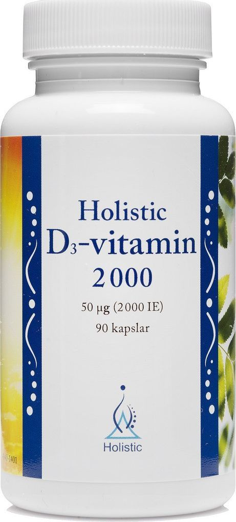 Holistic Witamina D3 2000 Cholekalcyferol Holistic 90 Kapsułek Witaminy D3 Z Lanoliny 1