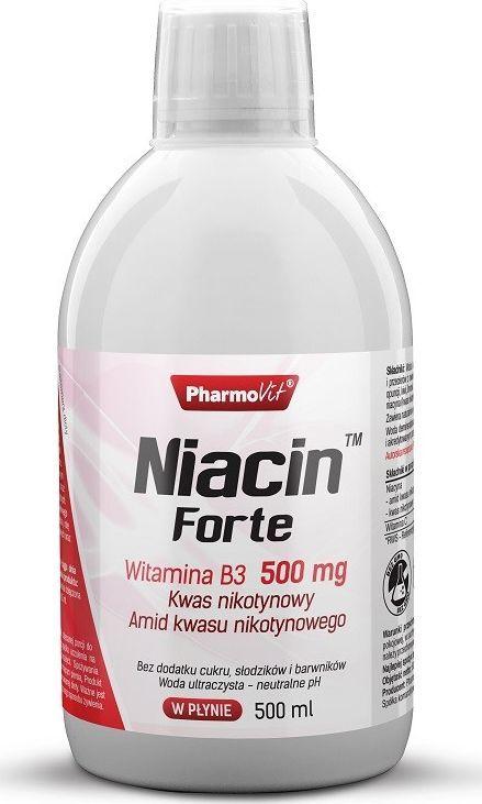 Pharmovit Niacin Forte 500 Ml Witamina B3 500 Mg Kwas Nikotynowy Amid Kwasu Nikotynowego 1